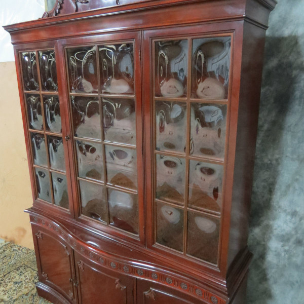 ... antique_mahogany_china_cabinet3; antique_mahogany_china_cabinet4;  antique_mahogany_china_cabinet5; antique_mahogany_china_cabinet6 - Antique Mahogany China Cabinet With Bubble Glass - Casey And Gram