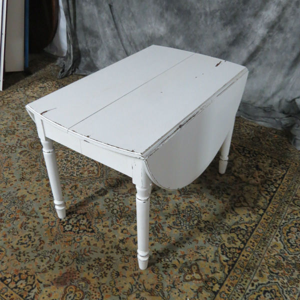 White Shabby Chic Drop Leaf Table Casey And Gram