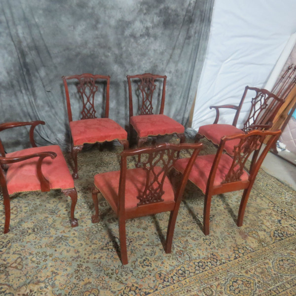 Six Thomasville Mahogany Dining Room Chairs