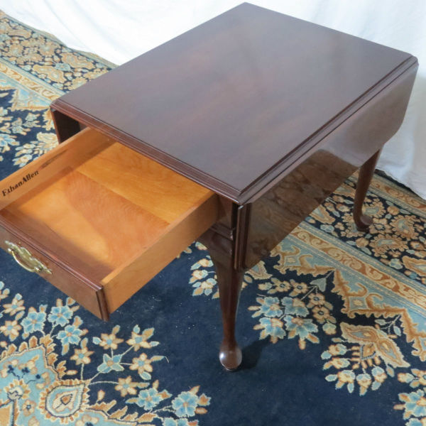 Ethan Allen Cherry Drop Leaf Side Table Casey And Gram